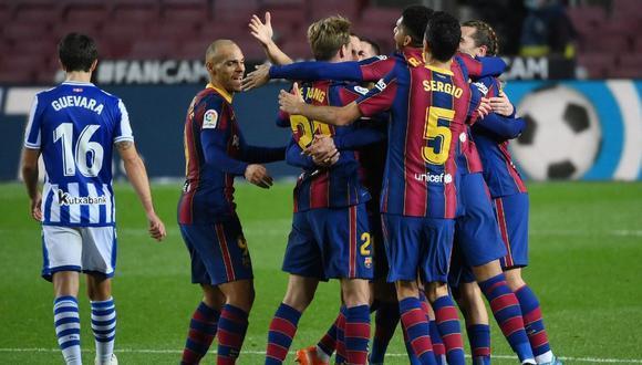 Barcelona celebrando una anotación