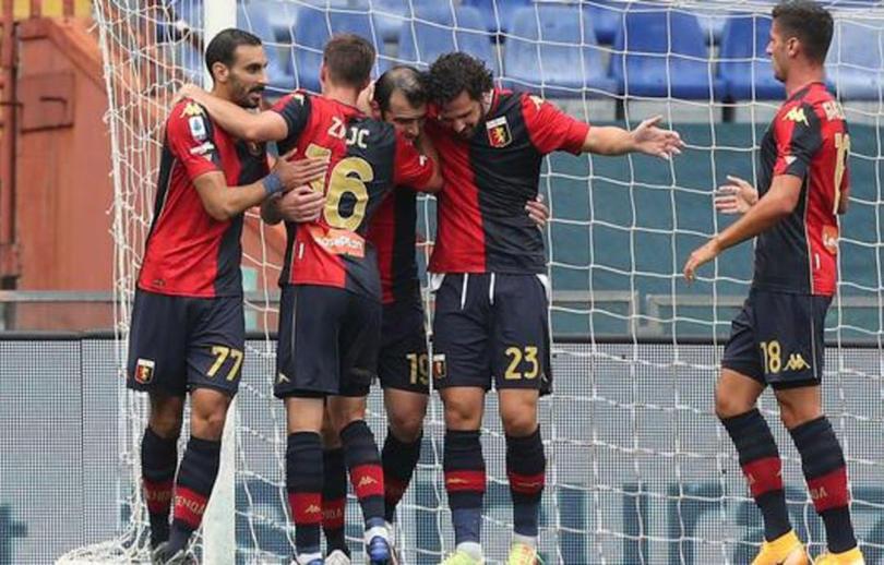 Genoa celebrando un gol