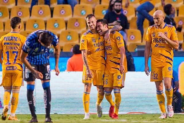 Tigres goleó 3-0 a Gallos en la Jornada 5 del Grita México A21