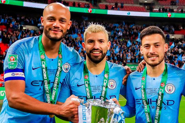 Kompany, Agüero y Silva, jugadores que serán inmortalizados en el Etihad Stadium