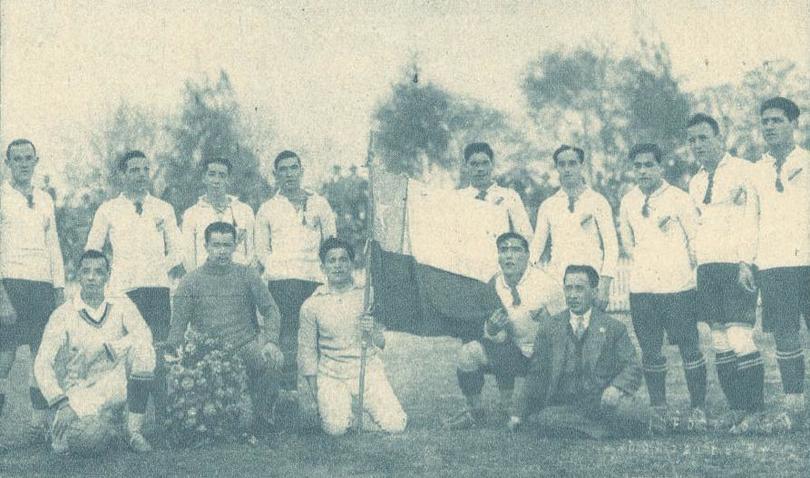 Plantel de Colo-Colo en su gira internacional de 1927