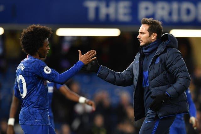 Lampard y Willian compartieron la cancha en Chelsea