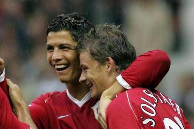 Cristiano Ronaldo y Ole Gunnar Solskjaer