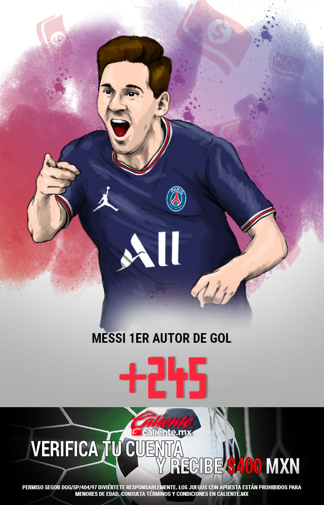 Si crees que Messi es el primer autor de Gol en el partido de Reims vs PSG, apuesta en Caliente y llévate mucho dinero.