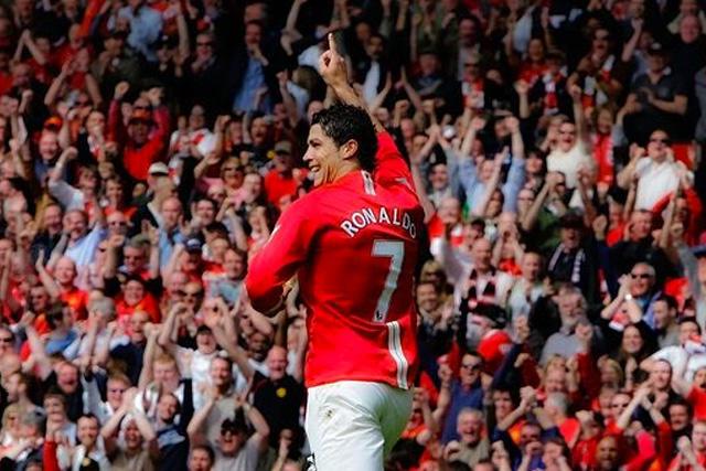 Cristiano Ronaldo con el Manchester United