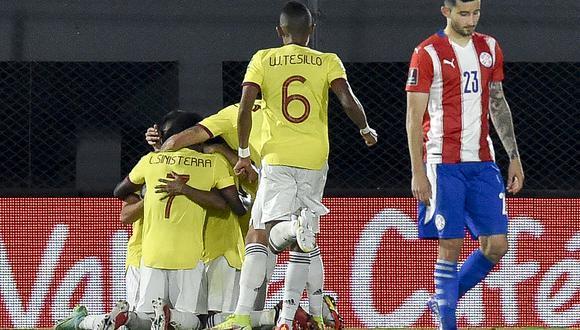 Paraguay y Colombia empataron a 1