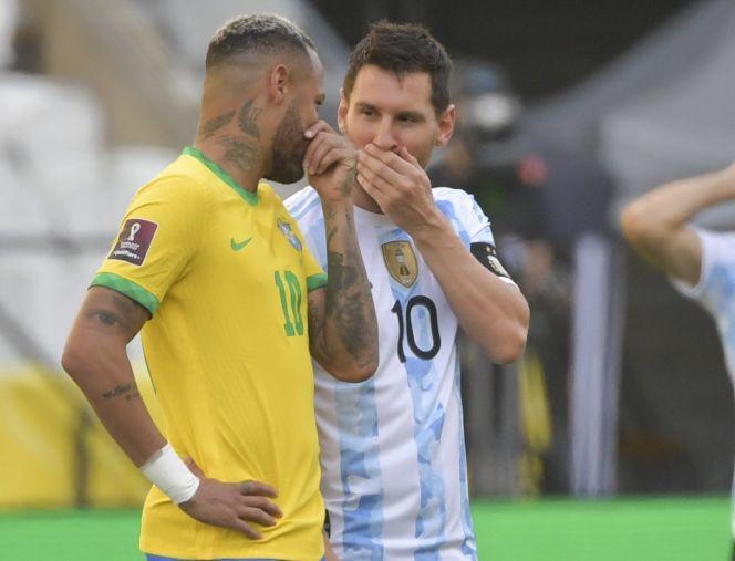 Brasil y Argentina se detuvo al minuto 5