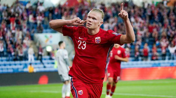 Haaland goleador de Noruega