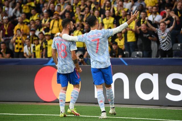 Cristiano Ronaldo y Bruno Fernández dieron el primer golpe del equipo en esta Champions