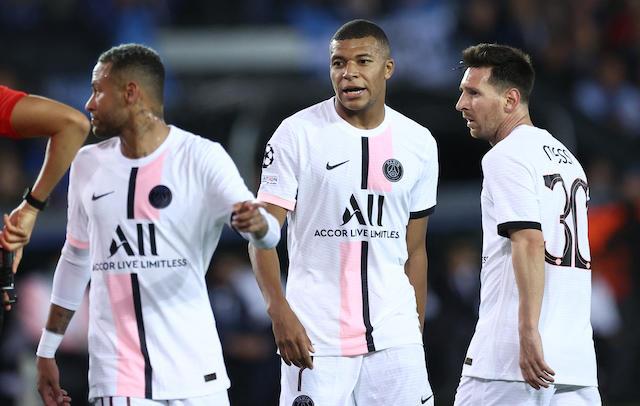 El tridente de Messi, Neymar y Mbappé no pudo superar al Brujas de Bélgica