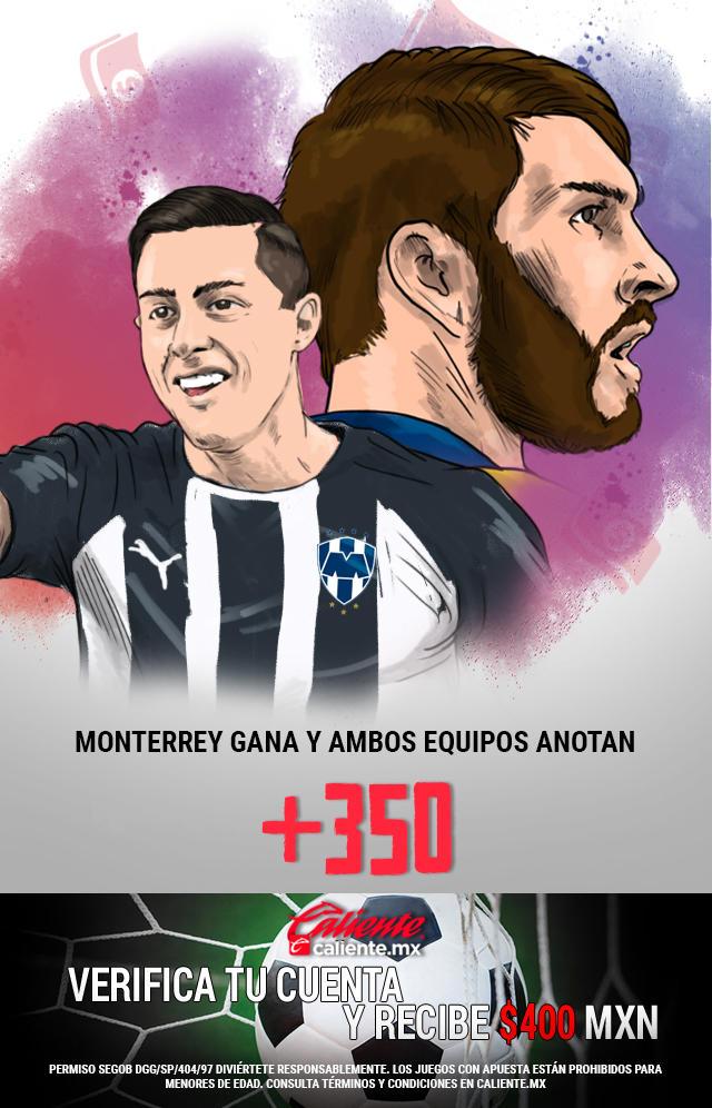 Si crees que Monterrey gana vs Tigres y ambos equipos anotan, apuesta en Caliente y llévate mucho dinero.
