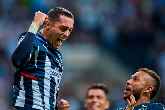 Funes Mori celebra su gol ante Toluca