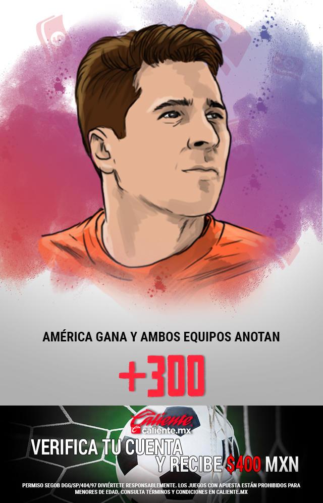 Si crees que América gana vs Chivas y ambos equipos anotan, apuesta en Caliente y llévate mucho dinero.