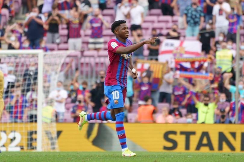 Ansu Fati regresó haciendo gol