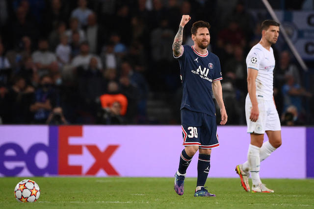 Messi celebrando su anotación