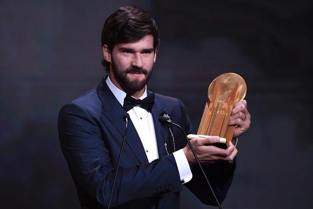 Alisson, ganador del trofeo Yashin 2019