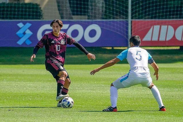 Jordan Carrillo anotó un golazo ante Suecia, su segundo en la gira por Europa con el Tri Sub-21