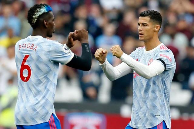 Paul Pogba y Cristiano Ronaldo