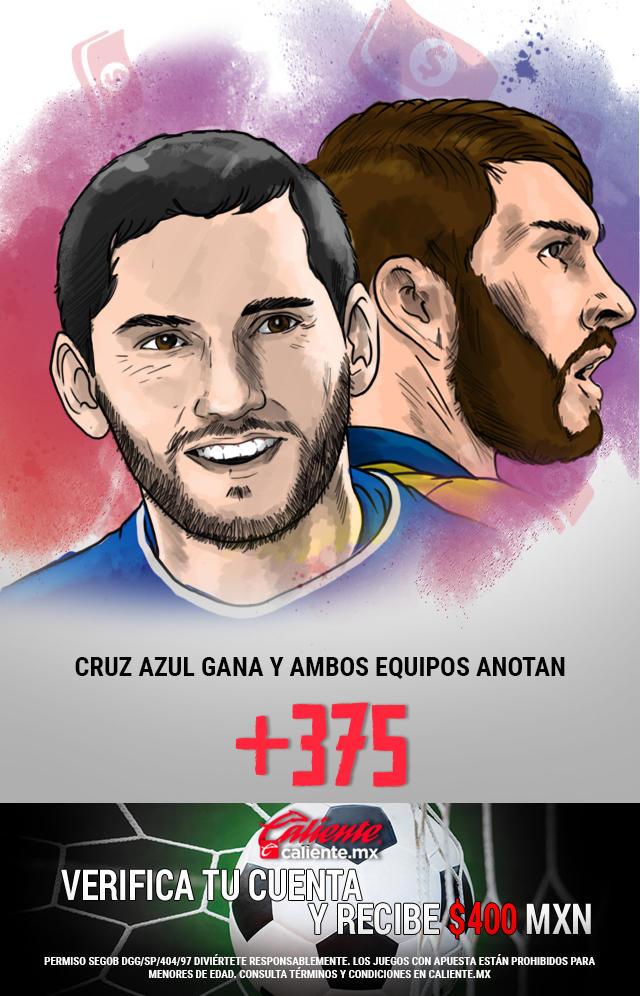 Si crees que Cruz Azul gana vs Tigres y ambos equipos anotan, apuesta en Caliente y llévate mucho dinero.