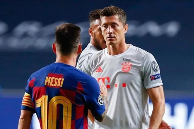 Lionel Messi y Robert Lewandowski