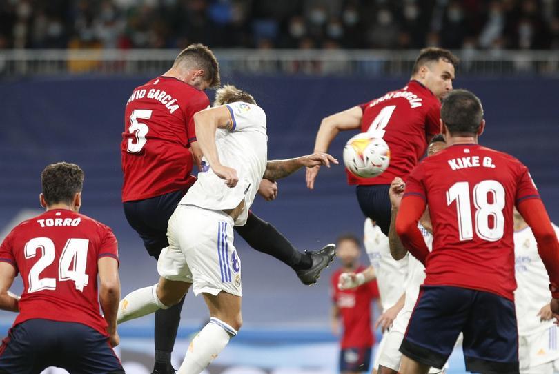 Empate sin goles entre el Real Madrid y el Osasuna